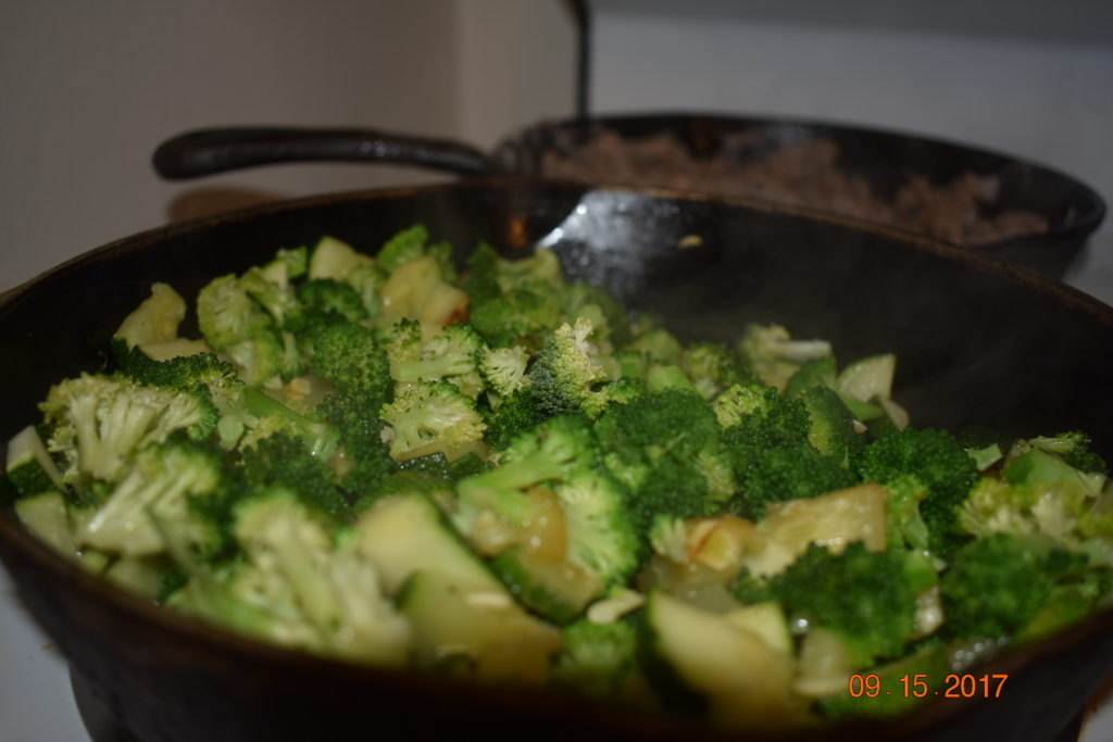 broccoli and zucchini