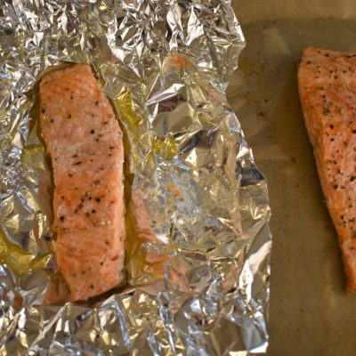 To add foil or not when cooking Salmon? Today's question.